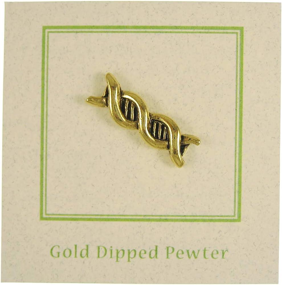 Jim Clift Design DNA Gold Lapel Pin
