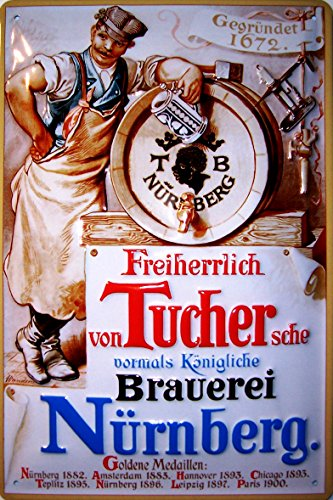 tucher-bier-brauerei-nurnberg-beer-nostalgic-3d-embossed-domed-strong-metal-tin-sign-787-x-1181-inch