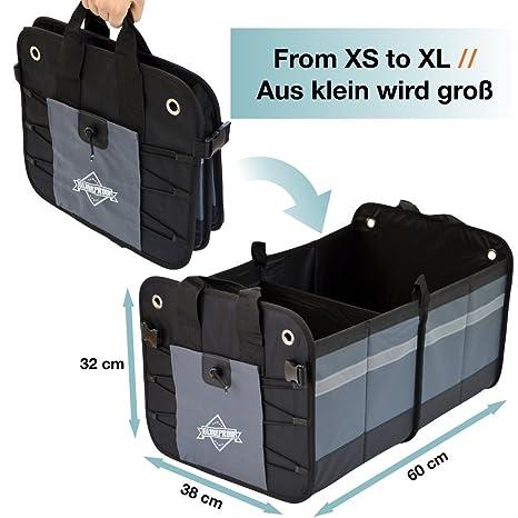 GLOBEPROOF Bolsa Para Maletero Grande| Caja Plegable Para Coche | Organizador Con Gran Capacidad De 50 Litros | Desde Su Experto Alemán En Accesorios Para ...