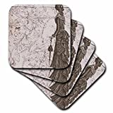 3dRose cst_110252_1 Vintage Fashionable Lady Steampunk Art-Soft Coasters, Set of 4