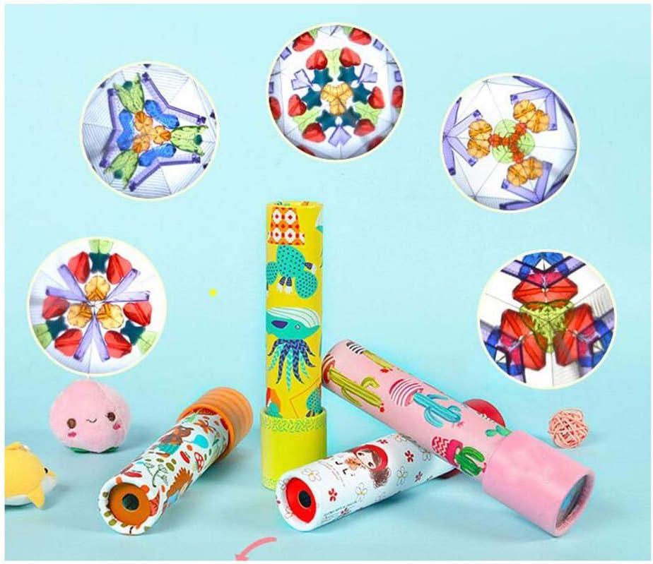 Beher Stretchable Magic Kaleidoscope Classic World Kaleidoscope Birthday Gift for Children Educational Science Developmental Toy Random Color