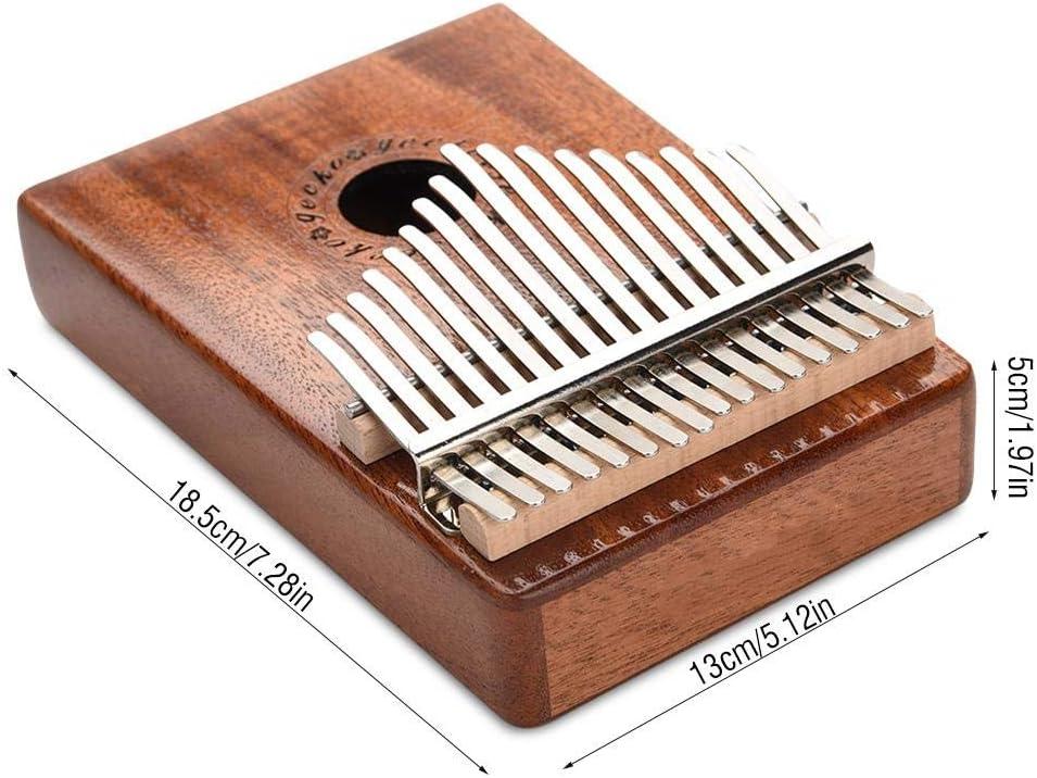 17 Tasti Kalimba professionale Thumb Piano strumenti musicali giocattolo con scatola protettiva e regolazione del martello