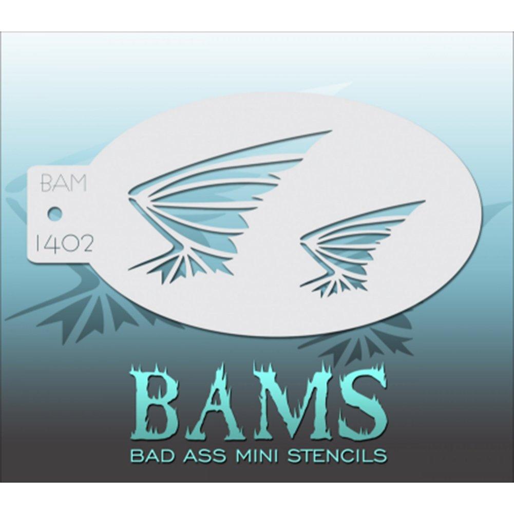 Bad Ass Bat Wings Mini Schablone bam1402