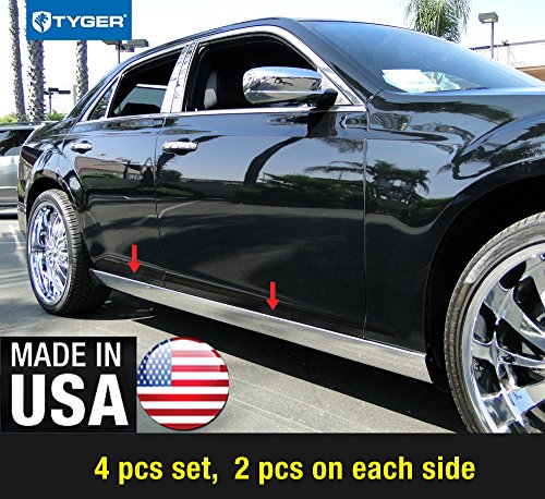 - Made in USA! Works with 2011-2017 Chrysler 300 300C Extreme Lower Rocker Panel Molding Trim 4