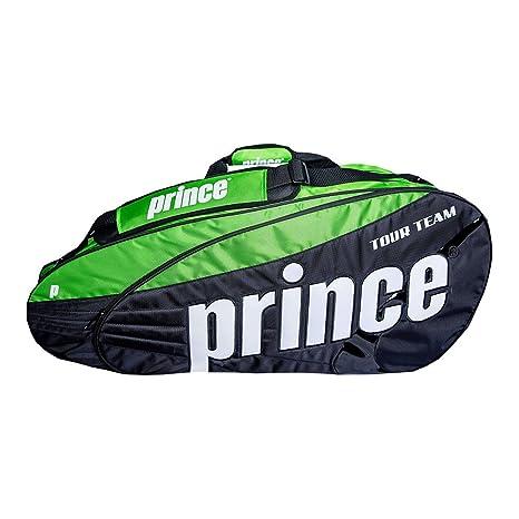 Prince Tour Team 2016 12 Pack Bolsa de Tenis (Negro/Verde): Amazon ...