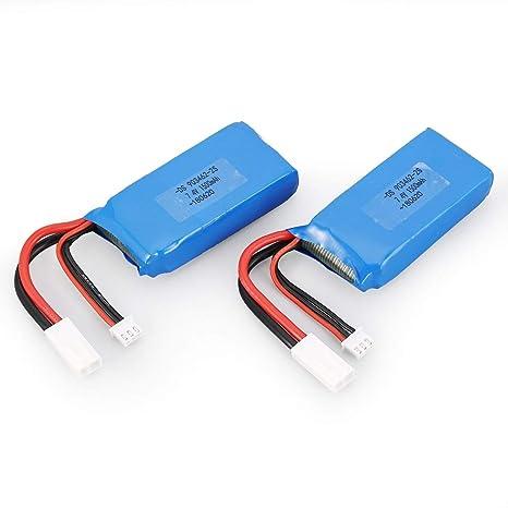 DoMoment 2 unids 7.4 V 1500 mAh 25C 2S Lipo Batería con ...