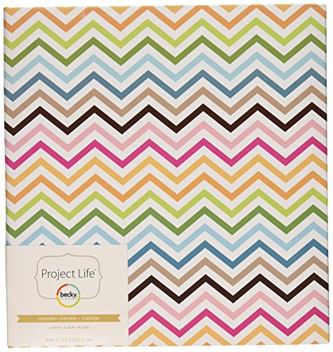 (Project Life Album, 6 by 8-Inch, Multi Chevron)