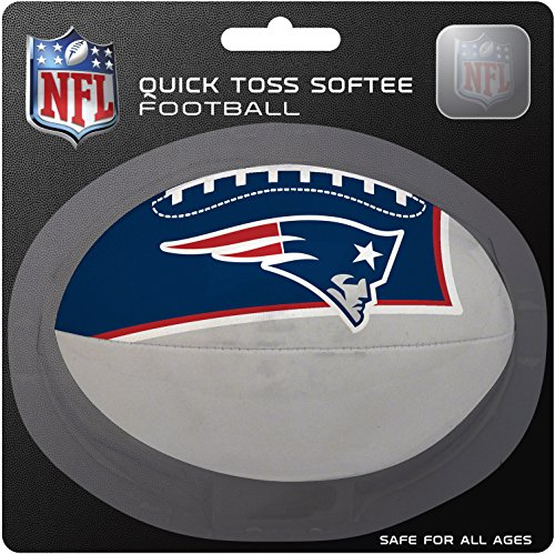 New Nfl Gear - NFL New England Patriots Kids Quick Toss Softee Football, Blue, Small
