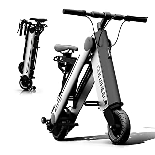 10 Inch 350W Mini Electric Bicycle Fashionable Smart APP Foldable and Portable 11.6AH with Bluetooth and Headlight,Silver XYoutdoor