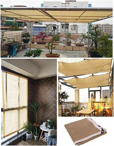 VKTY - Panel de sombra, tela de sombra, borde sellado con ojales de malla para pérgola cubierta de toldo de 5.56 pies x 9.8 pies, 3 m x 3 m.: Amazon.es: Jardín