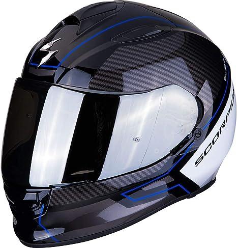 Scorpion Unisex Erwachsene Nc Motorrad Helm Schwarz Blau Weiss Xl Auto