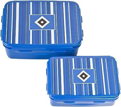 Hamburger SV Brotdose 2er Set Lunchbox clip /& close und Trinkflasche
