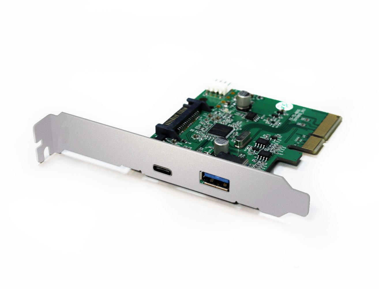 Archgon USB 3.1 GEN II (Max. 10Gbps) PCI-Express Adapter Card 1 USB Type C and 1 USB Type A (USB 3.1 A + C) Support UASP Mode