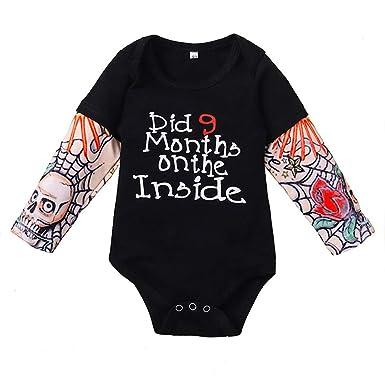 Lilingfine_Ropa de bebé recién Nacidos niños Rompers, 0-24M bebé ...
