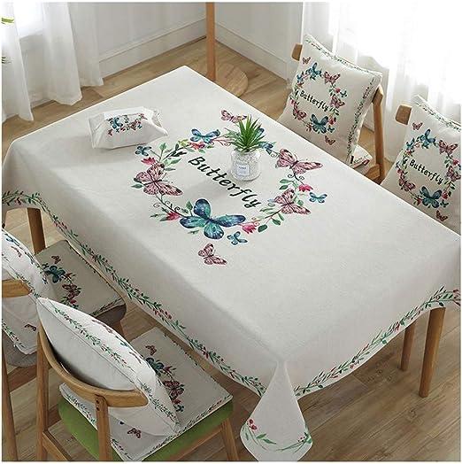Qiao jin Manteles Mantel algodón Arte Lino Mantel Impermeable ...