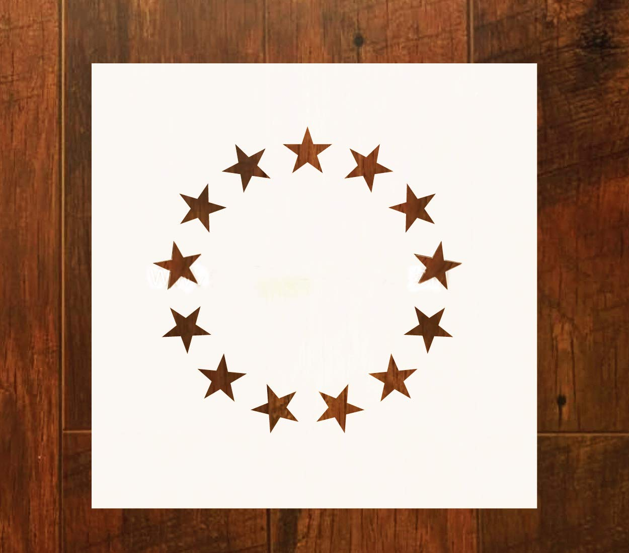OBUY Betsy Ross Flag 13 Star Stencil for Painting on Wood, Walls, Fabric, Airbrush, More   Reusable 12 x 12 inch Mylar Template