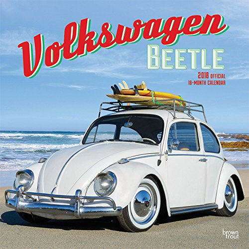 Volkswagen Beetle 2018 12 x 12 Inch Monthly Square Wall Calendar, German Motor Car (Multilingual Edition)
