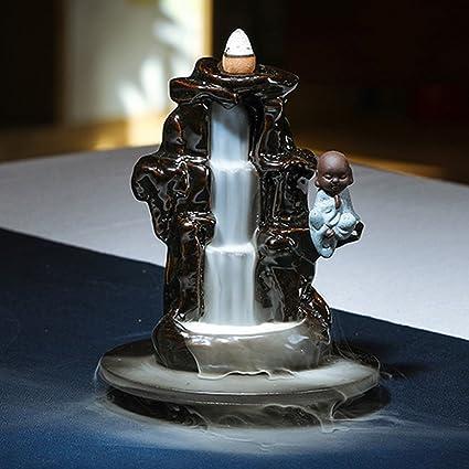 Quemador de incienso de reflujo casa de incienso Sándalo estufa cerámica adornos creativos dormitorio soporte de