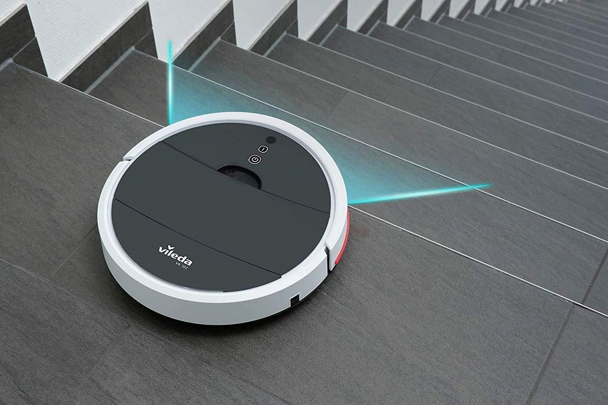 lgvshopping Robot Vileda VR 102 Aspiradora silenciosa con sensores Integrados Limpieza Hogar batería Iones de Litio: Amazon.es: Hogar