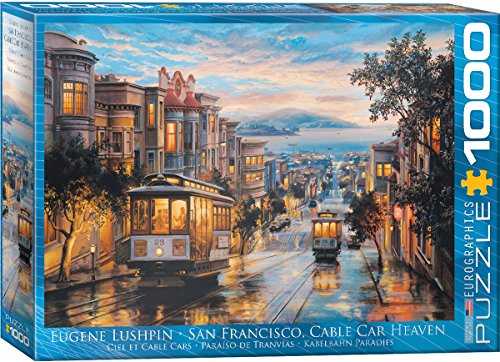 Eurographics San Francisco Cable Car Heaven By Eugene Lushpin Puzzle  1000 Piece