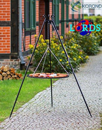 102Edelstahl schwarz 60cm Grill über Stativ 5mm/20x 4mm manuell hochwertige Arbeit in Polen