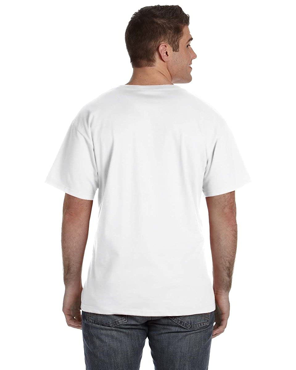 58cd3cd6 Fruit of the Loom Men's 5 oz, 100% Heavy Cotton HD V-Neck T-Shirt (39VR)  WHITE: Amazon.ca: Clothing & Accessories