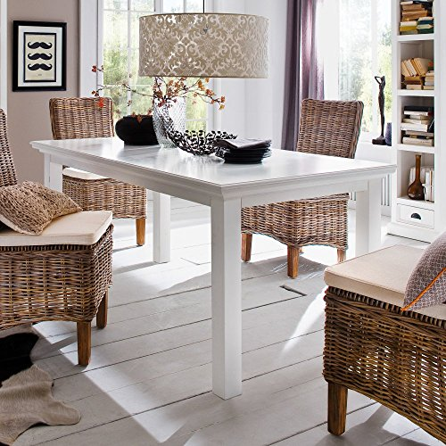 NovaSolo Halifax Dining Table, 160cm, White by NovaSolo