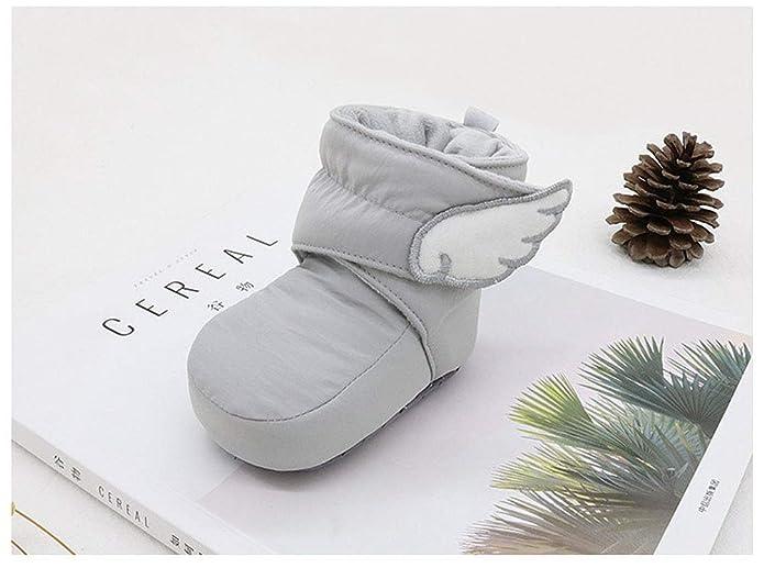 Zapatos Bebe Suave Calzado Recién Nacido Cálido Forro Caliente ...