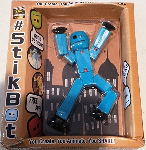 Stikbot, Light Blue Stikbot, 3 Inches