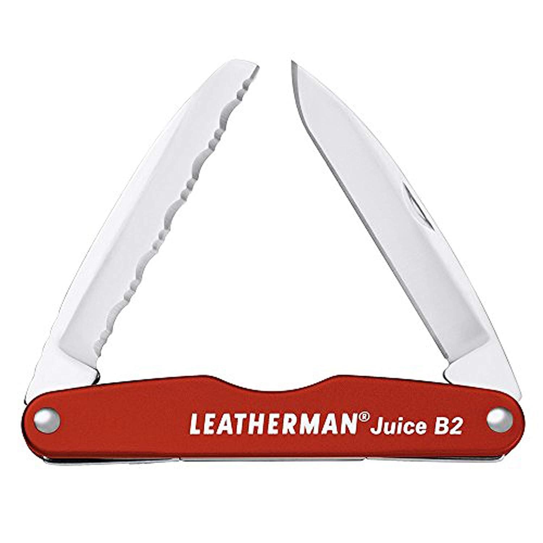 LEATHERMAN – Juice B2 Lightweight Pocket Knife for Everyday Carry and Use, Cinnabar Orange