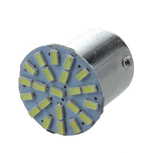 6 opinioni per SODIAL(R) 10 LAMPADE LUCI POSTERIORI BA15S P21W 22 LED SMD BIANCO