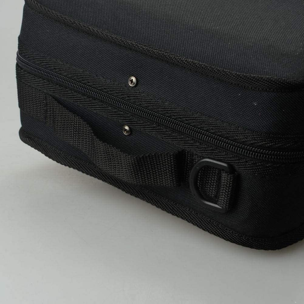 Black Allgreen Fashion Oblong Shape Lightweight Violin Case Portable Carrying Bag