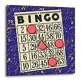 3D Rose Playing Bingo Wall Clock, 13'' x 13''