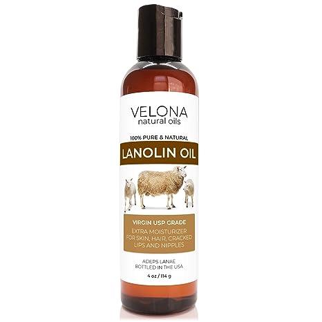 Velona Natural Oils: 100% Natural Lanolin Oil for Hair,  Skin, Body & Face