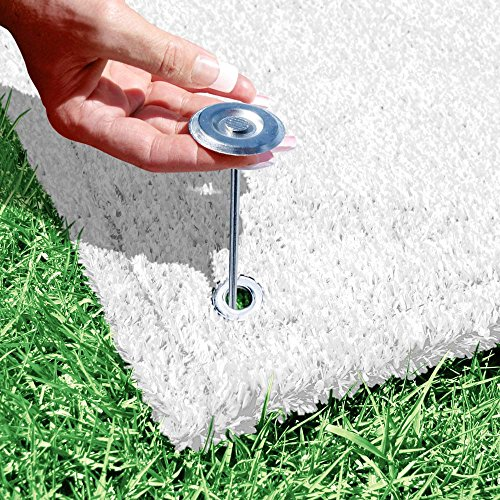 House, Home and More Outdoor Turf Wedding Aisle Runner - White - 3 Feet x 10 Feet
