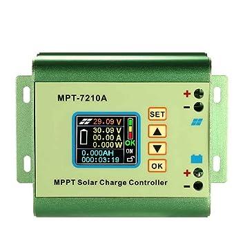 Befaith MPPT panneau solaire contrôleur de charge de la batterie couleur  LCD affichage numérique Boost tension 057510d21b62