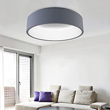Amazon 45cm Modern Simple Circular LED Ceiling Light Metallic
