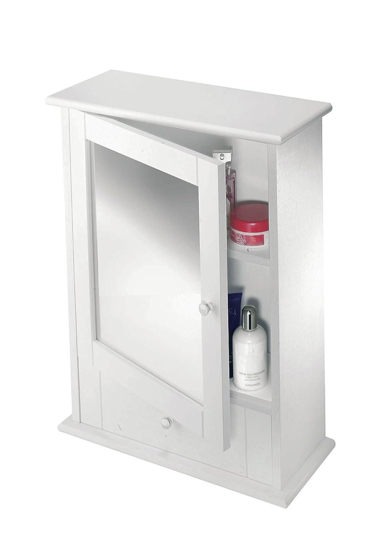 Croydex Maine Single Door White Mirror Cabinet with Shelf: Amazon.co ...