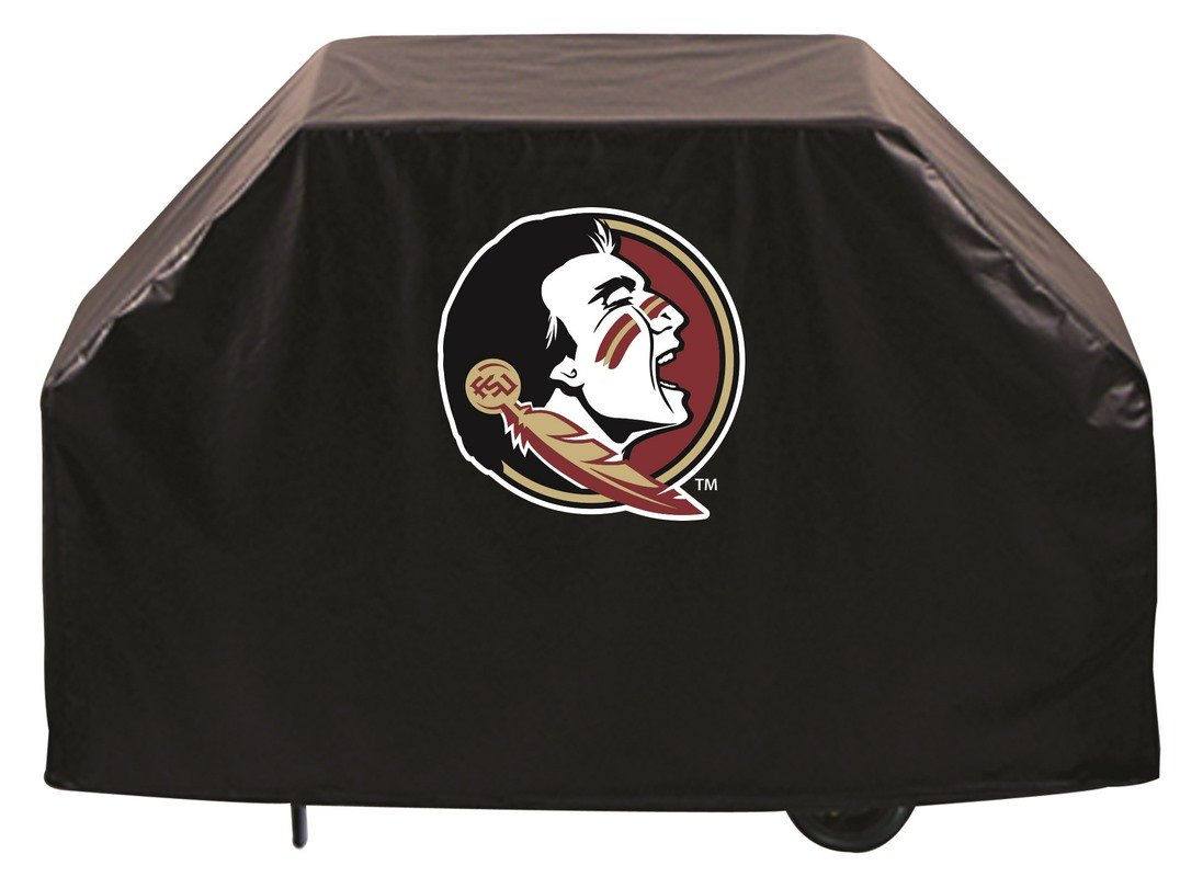 Florida State University Grill Cover with Head logo on stylish Black Vinyl by Covers by HBS