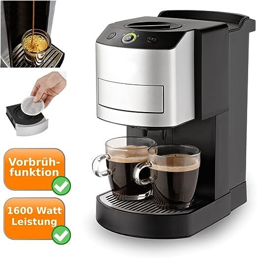 Cafetera de monodosis para 2 tazas de café con función, Pad de ...