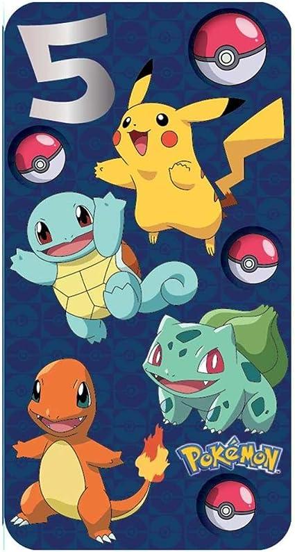 Carte D Anniversaire Pokemon Pour Un 5e Anniversaire Amazon Fr Fournitures De Bureau