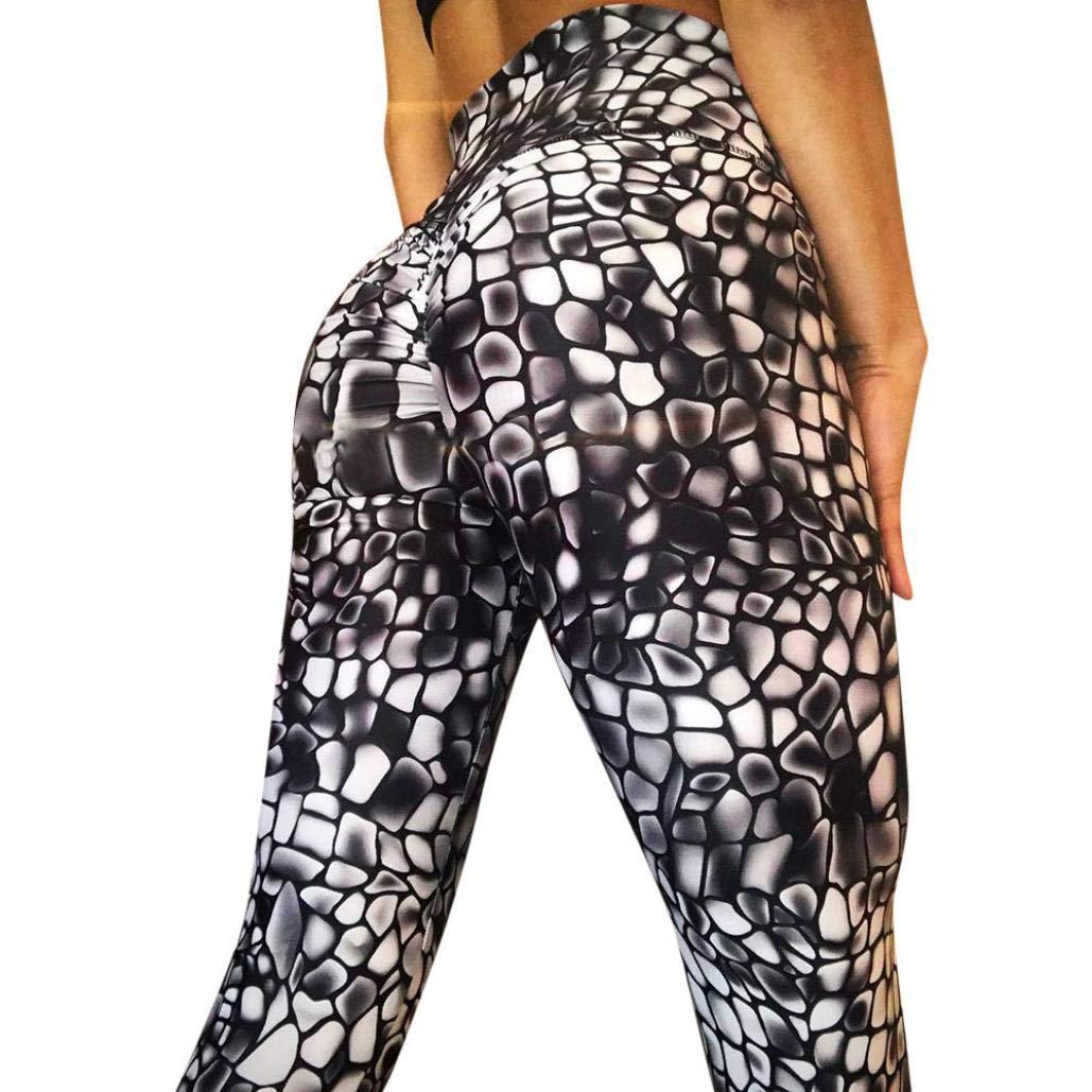 Ode_Joy Pantaloni yoga-Yoga femminile a vita alta Leggings di fitness in esecuzione pantaloni sportivi elasticizzati pantaloni- Usura Fitness Per Le Donne Skinny, Allenamento Sport