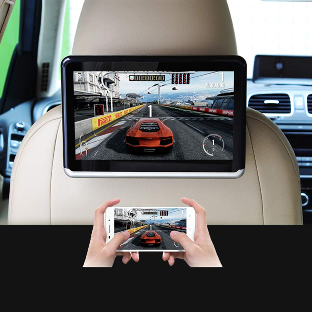 Android DVD Player 1080P Car Headrest DVD Player 4500mAh Battery, Supports Bluetooth, HDMI Output, FM, WiFi by DDAUTO (Image #4)