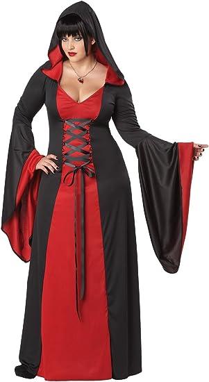 Generique - Disfraz Vestido maléfica con Capucha Talla Grande Mujer XXXL (48/50): Amazon.es: Juguetes y juegos