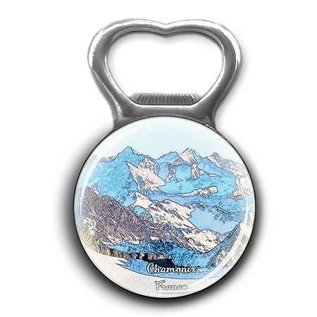 Francia Mont Blanc Chamonix Alpes Abridor de botellas de metal ...