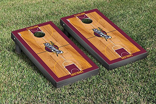 Cleveland Cavaliers NBA Basketball Regulation Cornhole Game Set Basketball Court Version by Victory Tailgate