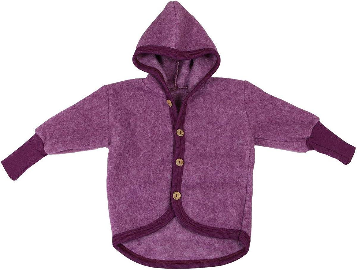 Cosilana Baby Woll-Fleece J/äckchen mit Kapuze kbT Wolle Bio Baumwolle