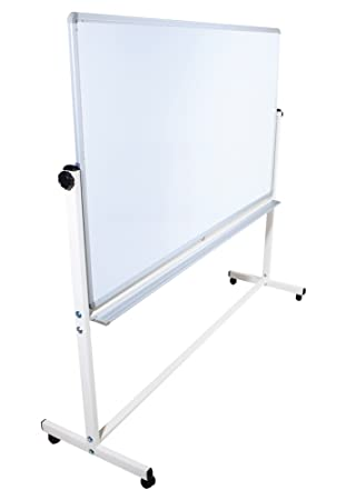 Whiteboard 360° Doppelseitiges Mobiles Whiteboard Rack /& 12 Magnetes 120x90cm