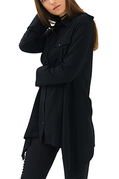 trueprodigy Casual Mujer Marca Blusa Basico Ropa Retro Vintage Rock Vestir Moda Collar De Kent Manga Larga Slim Fit Designer Cool Urban Fashion Top Blouse ...