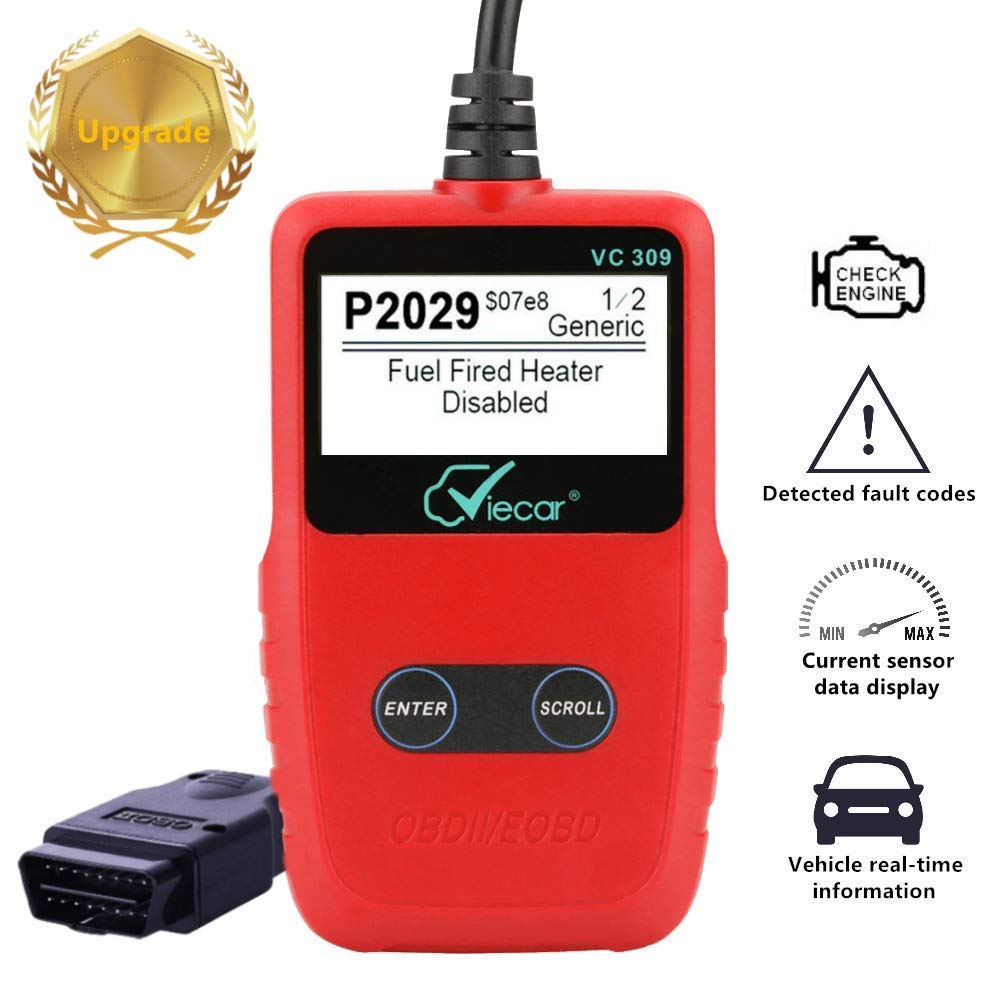 OBD2 Scanner Auto Car Engine Light Fault Code Reader Clear obd ii  CAN Diagnostic Scan Tool for all OBD II Protocol Car Since 1996